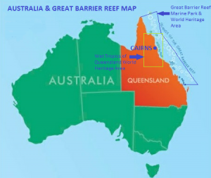 Barrier Reef Australia Map.Great Barrier Reef Reef Experience