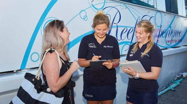 All smiles at Reef Experience check in