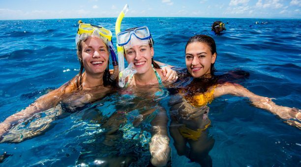 Snorkelling with friends on Reef Experience